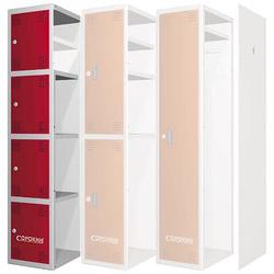 Сорокин 24.4 Металлический шкаф одёжный четырехсекционный Сорокин Мебель металлическая Сервисное оборудование